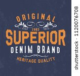 vintage print for t shirt or...   Shutterstock .eps vector #1120076708