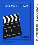 movie and film abstract modern... | Shutterstock .eps vector #1120080242