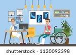 hospital city room interior... | Shutterstock .eps vector #1120092398