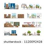 university city building...   Shutterstock .eps vector #1120092428