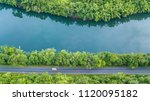 aerial top view road track with ... | Shutterstock . vector #1120095182