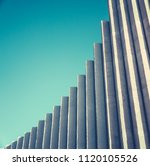 abstract architectural detail... | Shutterstock . vector #1120105526