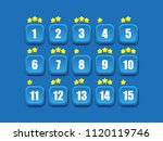 colorful level selection screen ...   Shutterstock .eps vector #1120119746