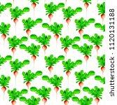 watercolor vegan pattern.... | Shutterstock . vector #1120131188