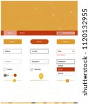 light orange vector ui kit in...