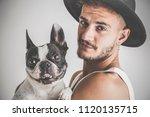 tattooed boy with piercings... | Shutterstock . vector #1120135715