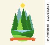 group of coniferous trees ...   Shutterstock .eps vector #1120136585