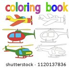 book coloring  helicopter ... | Shutterstock .eps vector #1120137836