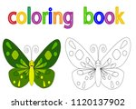 book coloring  butterfly ... | Shutterstock .eps vector #1120137902