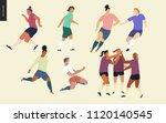 football  soccer players set  ...   Shutterstock .eps vector #1120140545