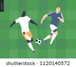 european football  soccer... | Shutterstock .eps vector #1120140572