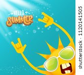 hello summer funky rock n roll... | Shutterstock .eps vector #1120141505