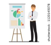 presents planning board ... | Shutterstock .eps vector #1120145078