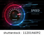 speed motion line vector... | Shutterstock .eps vector #1120146092