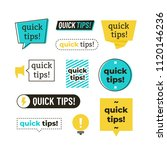 advice  tip  quick tips ... | Shutterstock .eps vector #1120146236