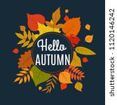 hello autumn background with... | Shutterstock .eps vector #1120146242