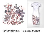 embroidery colorful trend... | Shutterstock .eps vector #1120150805