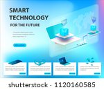 concept of big data processing  ... | Shutterstock .eps vector #1120160585