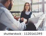 teamwork concept.young creative ... | Shutterstock . vector #1120161395