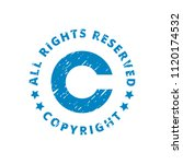 copyright all rights reserved... | Shutterstock .eps vector #1120174532
