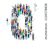 crowded isometric people vector ... | Shutterstock .eps vector #1120178828