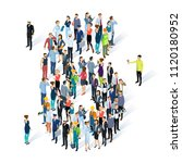 crowded isometric people vector ... | Shutterstock .eps vector #1120180952