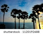 sunset to the sea with dark... | Shutterstock . vector #1120192688