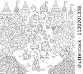 fantasy town. fairytale... | Shutterstock .eps vector #1120201358