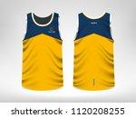 sleeveless sport t shirt design | Shutterstock .eps vector #1120208255