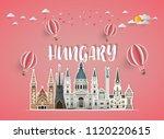 hungary landmark global travel... | Shutterstock .eps vector #1120220615