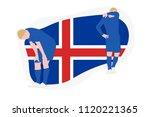 iceland football team player...   Shutterstock .eps vector #1120221365