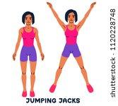 jumping jack. sport exersice.... | Shutterstock .eps vector #1120228748