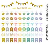 set of colorful ranking icons   ...