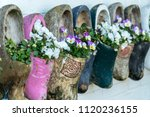 Close Up Of Old Wooden Clogs...