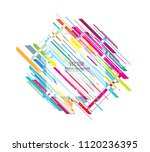 abstract colorful geometric... | Shutterstock .eps vector #1120236395
