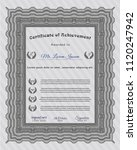 grey diploma template or... | Shutterstock .eps vector #1120247942