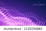 vector abstract particle wave ...