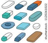 vector set of eraser | Shutterstock .eps vector #1120261022