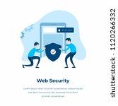web security vector... | Shutterstock .eps vector #1120266332