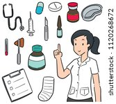 vector set of medical staff and ... | Shutterstock .eps vector #1120268672
