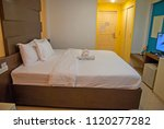 white bed  white bed from... | Shutterstock . vector #1120277282