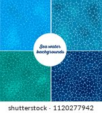 blue sea water patterns set.... | Shutterstock .eps vector #1120277942