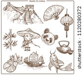 china travel symbols and vector ... | Shutterstock .eps vector #1120280372