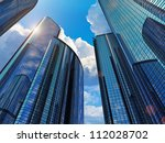 downtown corporate business... | Shutterstock . vector #112028702