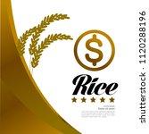 great gold rice vector... | Shutterstock .eps vector #1120288196