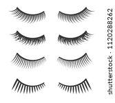 lashes set on white background. ... | Shutterstock .eps vector #1120288262