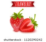 strawberry  realistic fresh... | Shutterstock .eps vector #1120290242