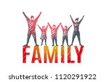 family. the husband  wife ... | Shutterstock .eps vector #1120291922
