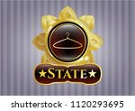 gold badge or emblem with... | Shutterstock .eps vector #1120293695