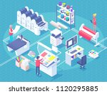 printing house polygraphy... | Shutterstock .eps vector #1120295885